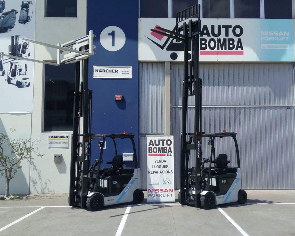 Carretillas elevadoras eléctricas, gas y diésel - Venta, Alquiler, Renting y ocasión en Auto Bomba