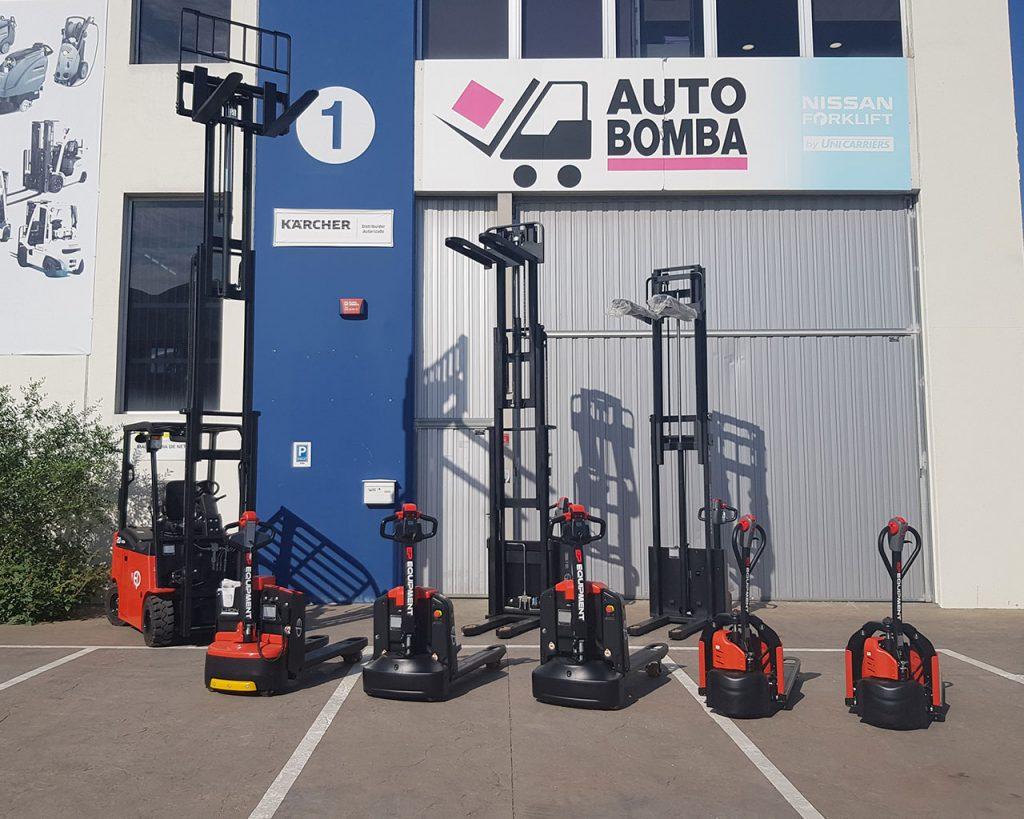 Ep Equipment Transpaletas, Recoge pedidos, Carretillas elevadoras eléctricas, gas y diésel - Venta, Alquiler, Renting y ocasión en Auto Bomba